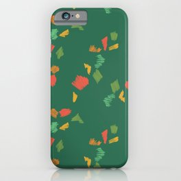 Holiday Pencil Scribbles Green iPhone Case