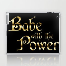 Labyrinth Babe With The Power (black bg) Laptop & iPad Skin