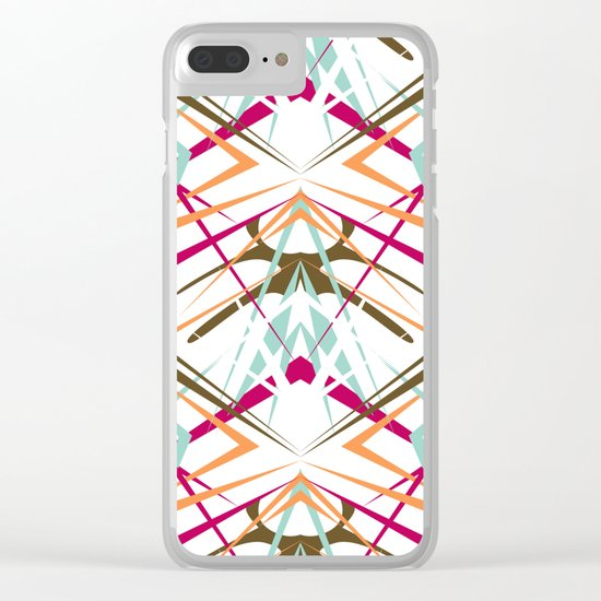 Abstract geometric colorful pattern on white background . Clear iPhone Case