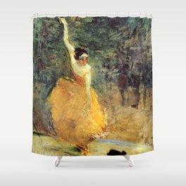 """Henri de Toulouse-Lautrec """"The Spanish Dancer"""" Shower Curtain"""