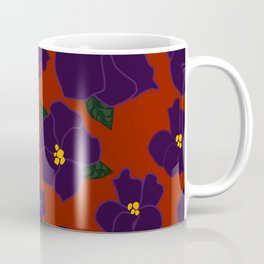 African Violets on red Coffee Mug