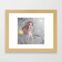 Evil Eye Witch Framed Art Print