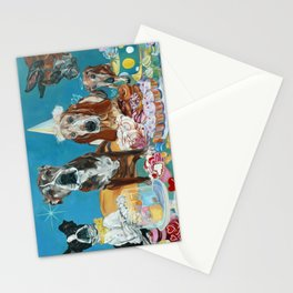 The Last Dessert Dog Portrait Stationery Cards