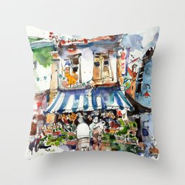 At the Market! Throw Pillow