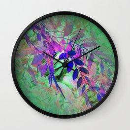 Leaf Illusion 1 Wall Clock
