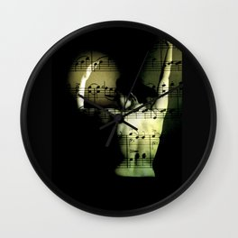 eroticism of music Wall Clock