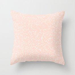 Peach Speckle Print Throw Pillow