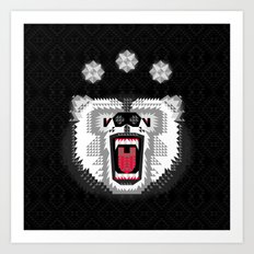 Polar Bear Geometric Art Print