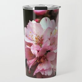 Pink Almond Flowers floral Travel Mug