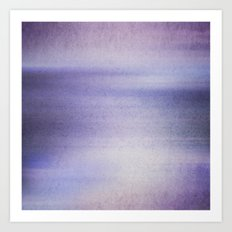 The blue Hour Art Print