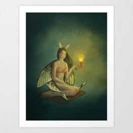 like moth to a flame Art Print