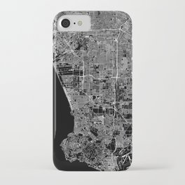 Los Angeles Black Map iPhone Case