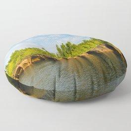 Sea caves #7 Floor Pillow