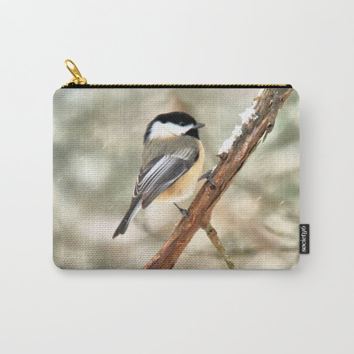 Clinging Chickadee Carry-All Pouch