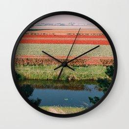 Keukenhof Tulip Flower Fields Wall Clock