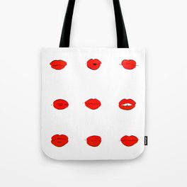 Red Lips Pattern Tote Bag