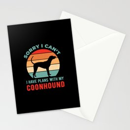 Funny Coonhound Stationery Cards