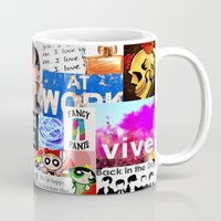 birthday Mugs featuring birthday by Aldo Couture