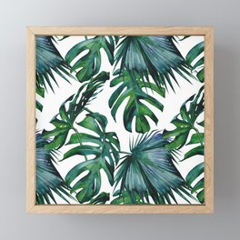 Tropical Palm Leaves Classic Framed Mini Art Print