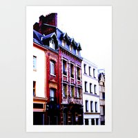 72 rue Art Print