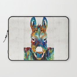 Colorful Donkey Art - Mr. Personality - By Sharon Cummings Laptop Sleeve