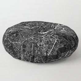 Rome Black Map Floor Pillow