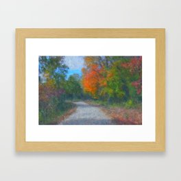 The Path  Impressionist Framed Art Print