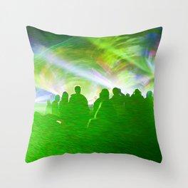 Laser show crowd Throw Pillow