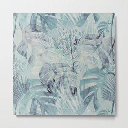 Tropical in Grey Metal Print