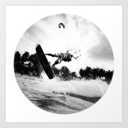 """WHEN THE TIME COMES"" kitesurf . kite . surf Art Print"