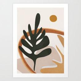 Abstract Plant Life I Art Print