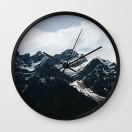 Mountains In Icefield Parkway Wall Clock