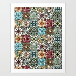 Colorful Spanish Tiles Art Print