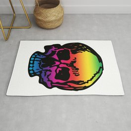 Pirate Skull Color Spectrum, Vibrant Skull, Rainbow Gradient, Super Smooth Super Sharp 9000px x 11250px PNG Rug