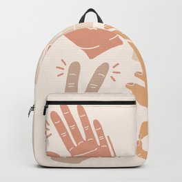 I Don't Know What to Do With My Hands Backpack