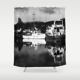 Boats on the Canal Shower Curtain