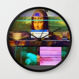 Mona Lisa _corrupt Wall Clock