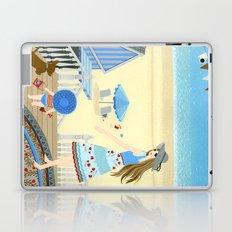 Family vacation at the beach Laptop & iPad Skin