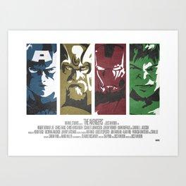 Vintage Avengers Film Poster Art Print