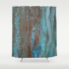 Patina Bronze rustic decor Shower Curtain
