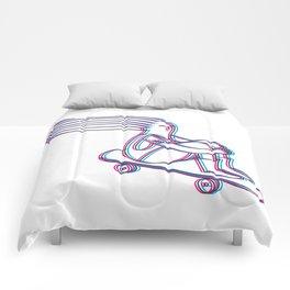 Skate or die cmyk Comforters
