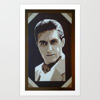 The Godfather Portraits : Young Michael Corleone Art Print