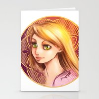rapunzel Stationery Cards featuring Rapunzel by Vincent Vernacatola