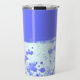 Ink Drop Blue Travel Mug