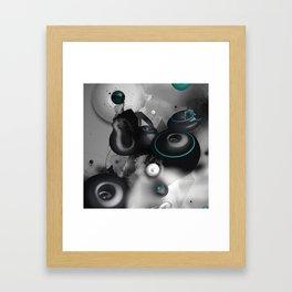 Time Circles Framed Art Print