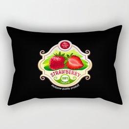 strawberry label Rectangular Pillow