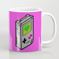 gameboy Mugs featuring Gameboy Love by Artistic Dyslexia