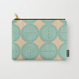 Fabric with circles Carry-All Pouch