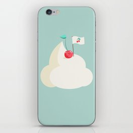 Cherry on top (of the whipped cream mountain) iPhone Skin