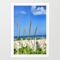 Relaxing on the Beach Art Print